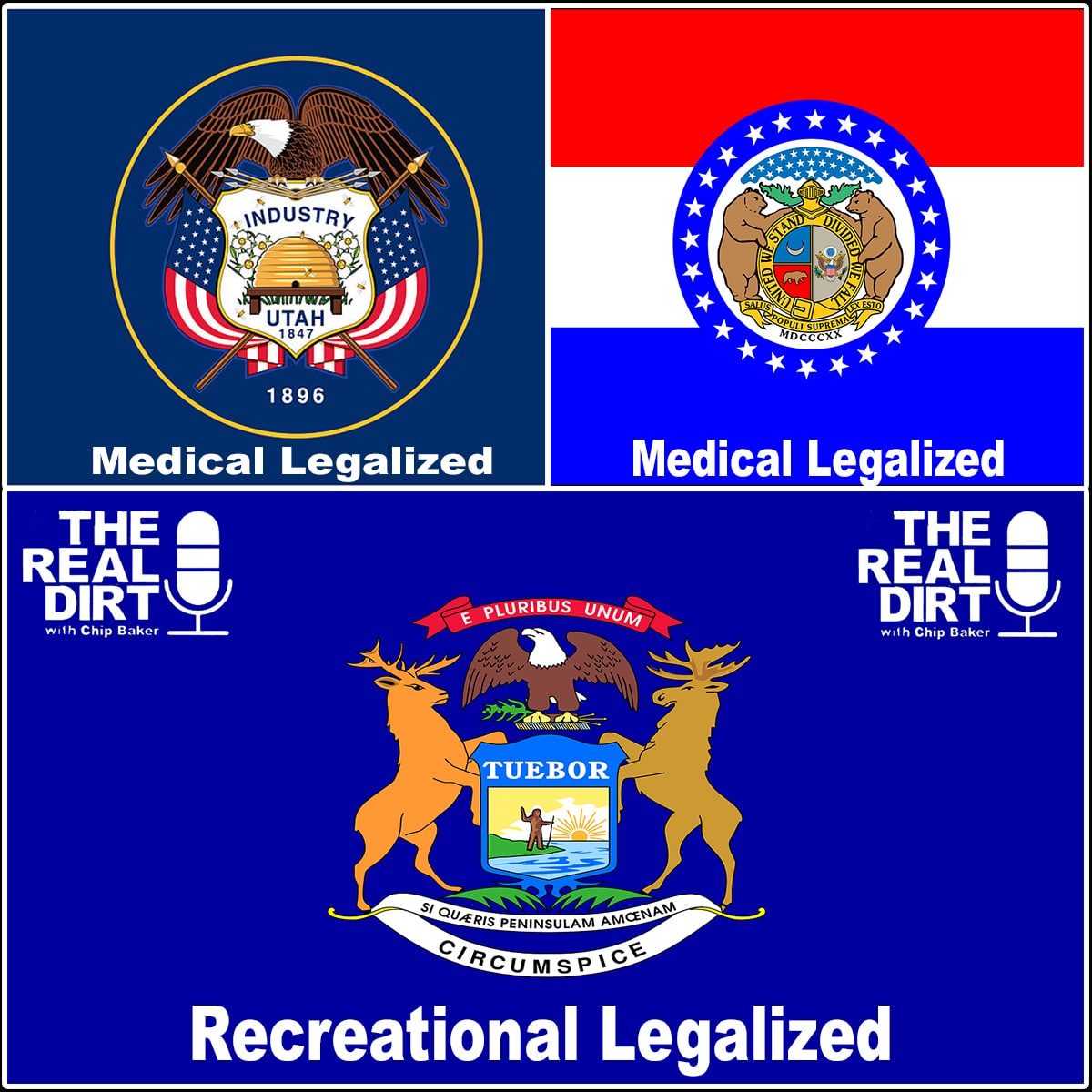 utah medical marijuana, missouri medical marijuana and michigan legal marijuana have all passed