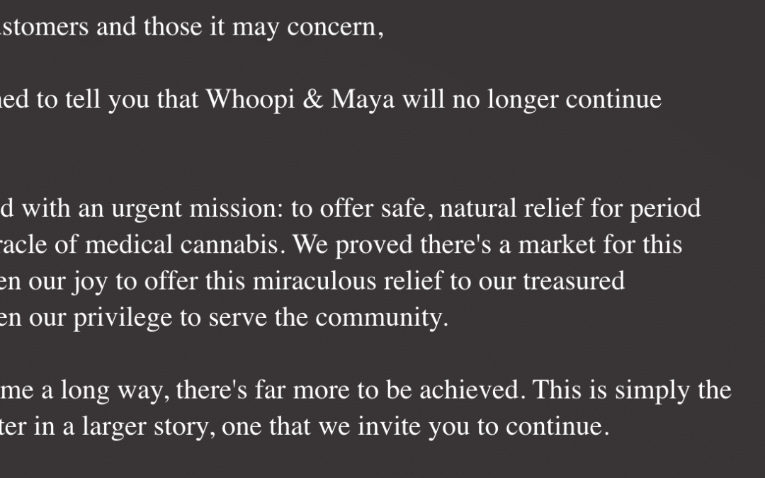 Whoopi Golderbg's Cannabis Business Tanks