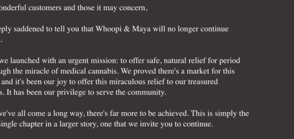 whoopi Goldberg cannabis business has closed down