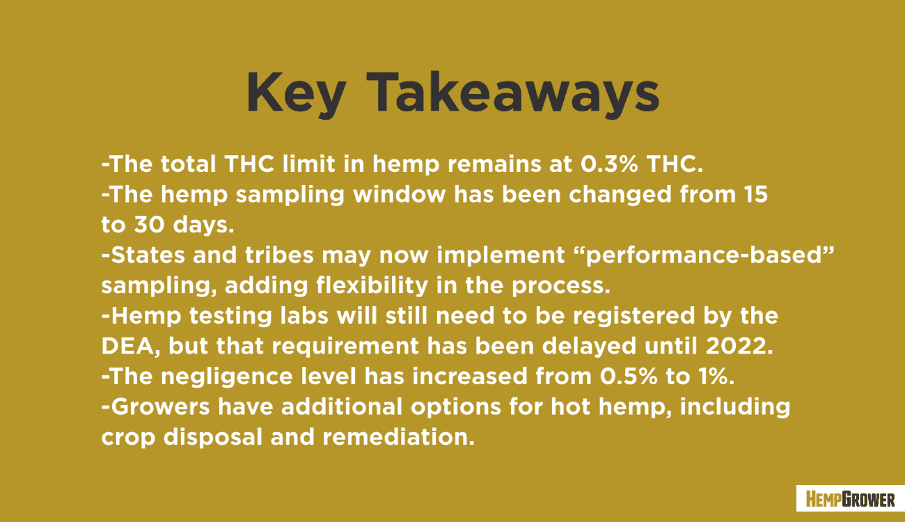 USDA final ruling on hemp has been released